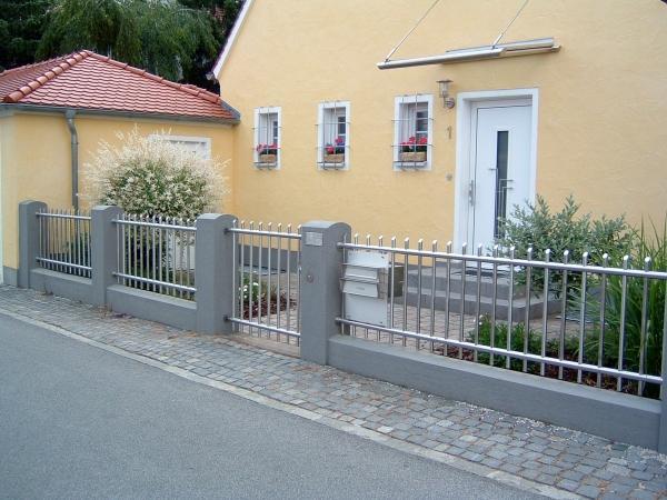 Metalltechnik-Werner-Spangler-Zaun aus Edelstahl