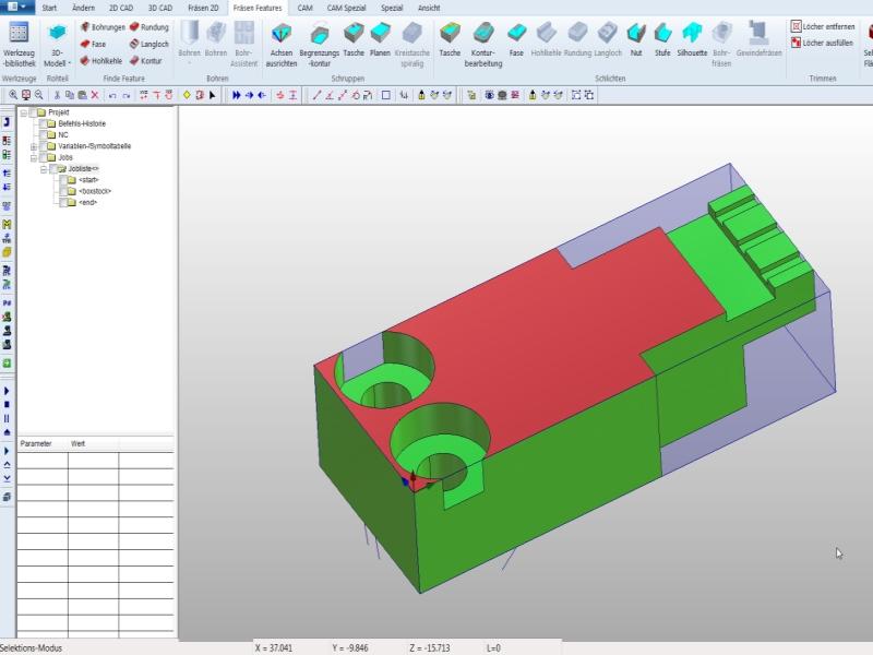 3D Programmierung mit modernster CAD/CAM Software